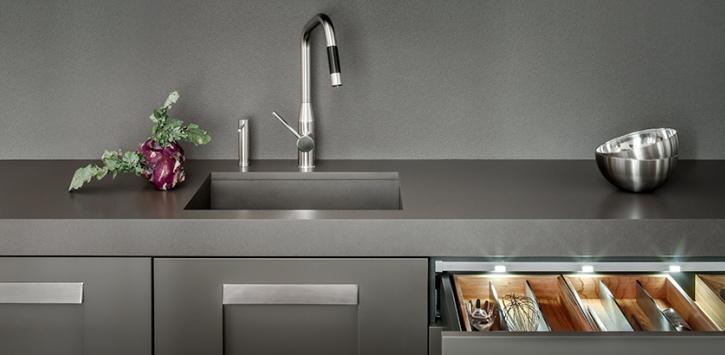 Materiali per lavelli da cucina a Torino | Tecknoimport